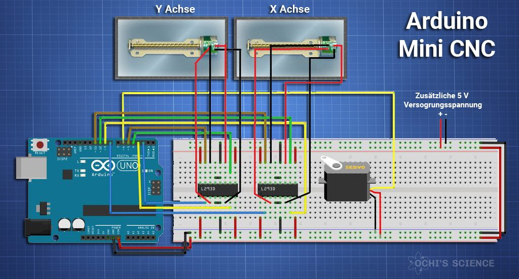 Arduino Schaltung Mini CNC