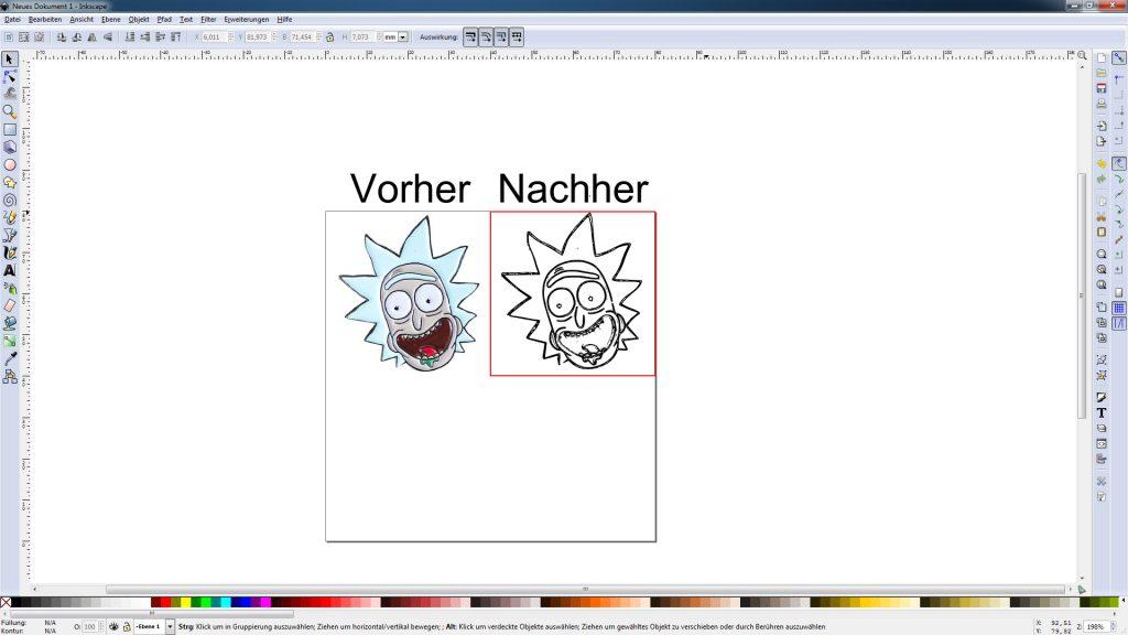 Inkscape Grafik Vorher Nachher