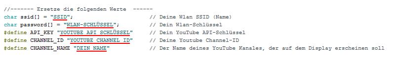 YouTube Counter Arduino Code