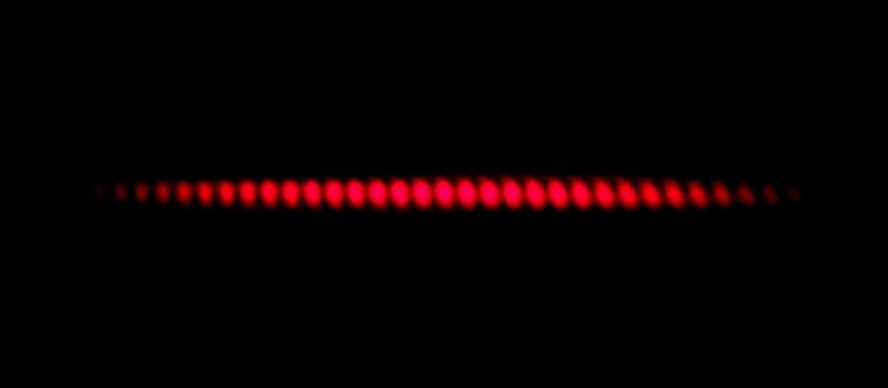 Doppeltspaltexperiment Laser Interferenzmuster